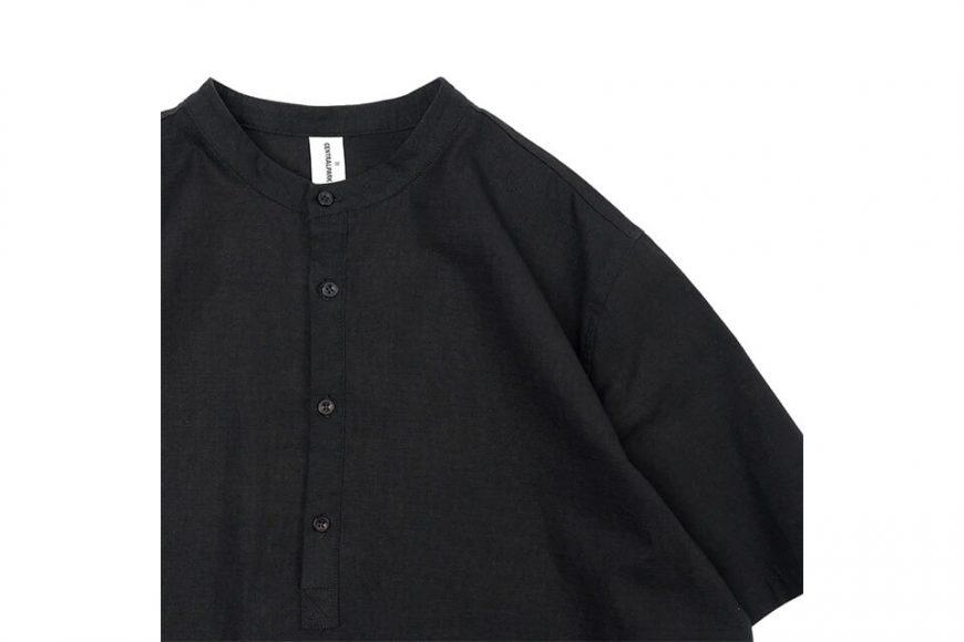 CentralPark.4PM 21 SS Band Collar Ripstop Shirt (6)