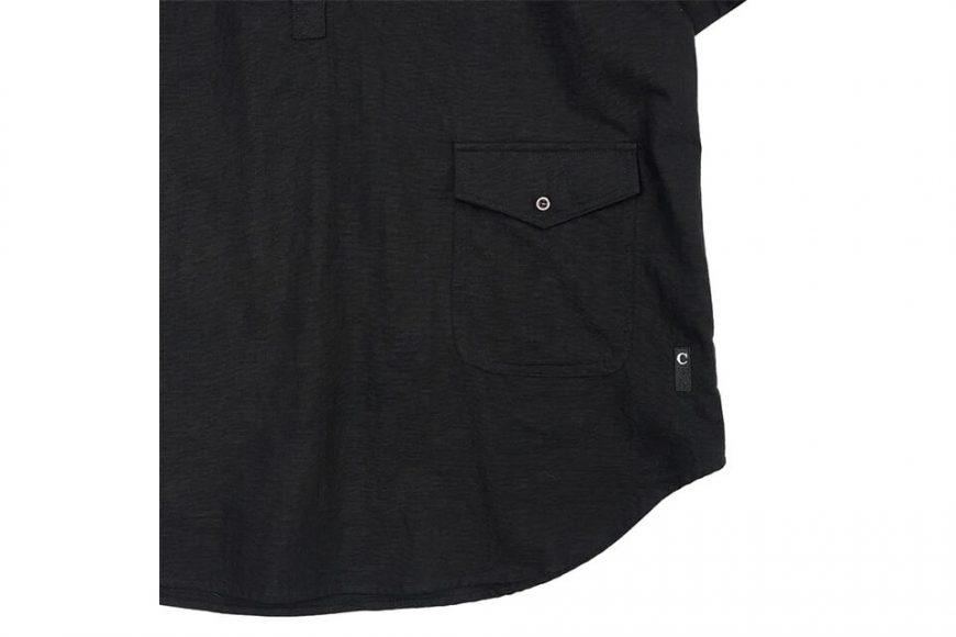CentralPark.4PM 21 SS Band Collar Ripstop Shirt (7)