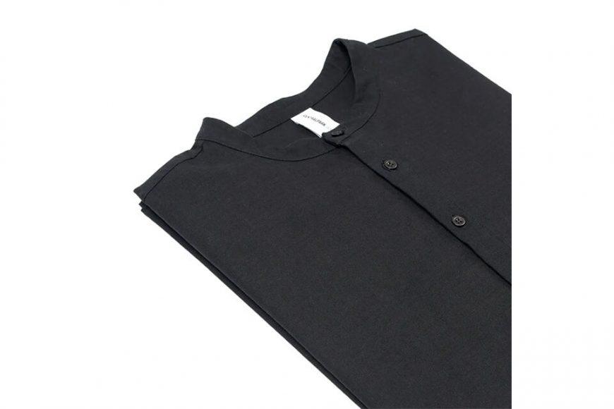 CentralPark.4PM 21 SS Band Collar Ripstop Shirt (8)