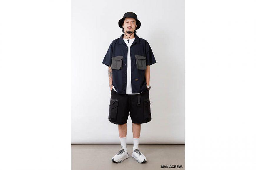 MANIA 21 SS Patchwork Pocket Shirt (1)