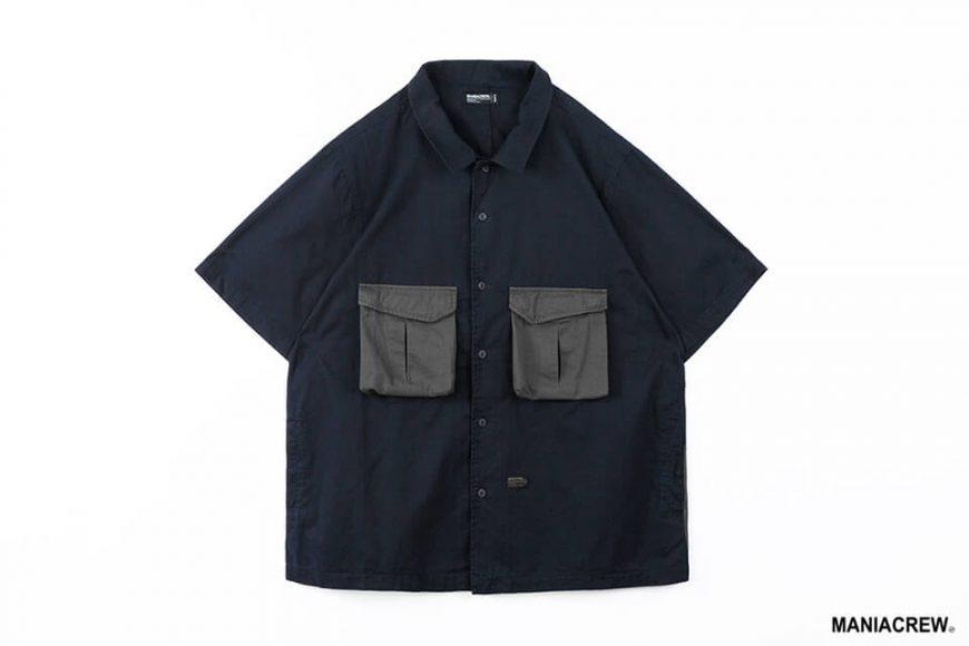 MANIA 21 SS Patchwork Pocket Shirt (11)