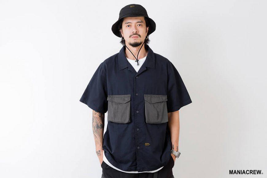 MANIA 21 SS Patchwork Pocket Shirt (2)