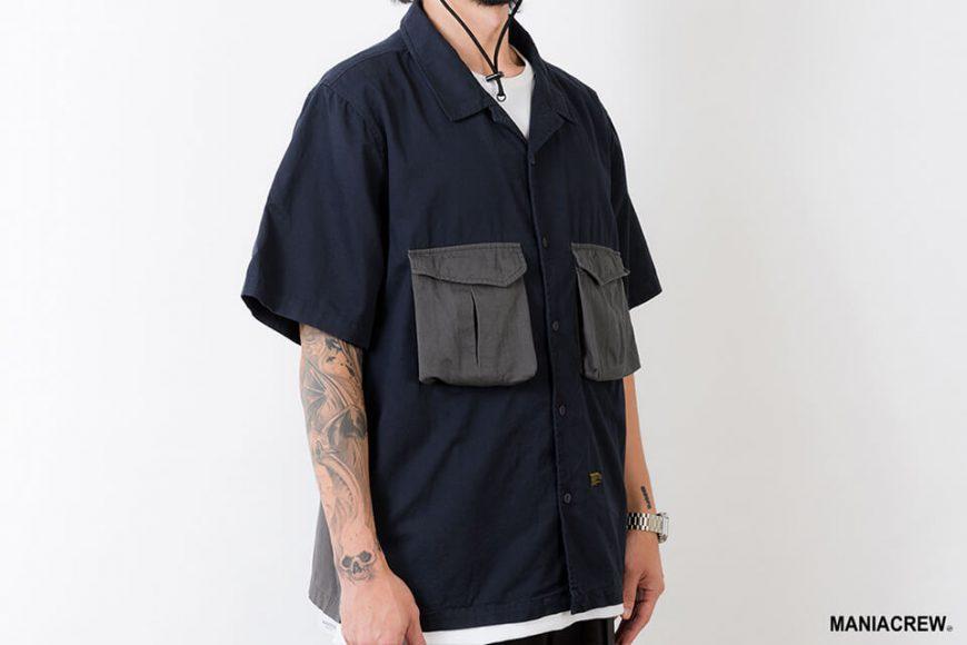 MANIA 21 SS Patchwork Pocket Shirt (4)