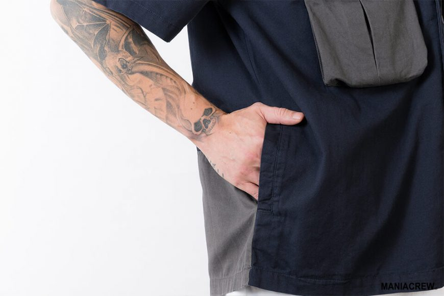 MANIA 21 SS Patchwork Pocket Shirt (5)