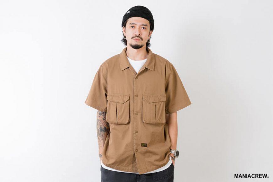 MANIA 21 SS Patchwork Pocket Shirt (7)