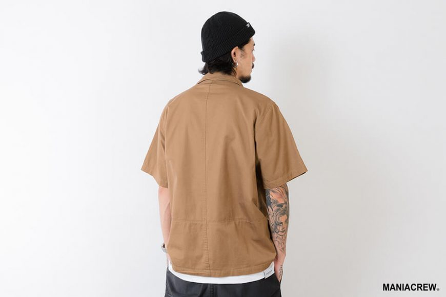 MANIA 21 SS Patchwork Pocket Shirt (8)