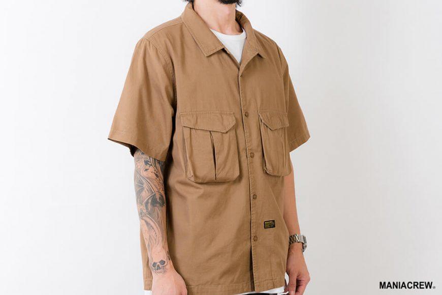 MANIA 21 SS Patchwork Pocket Shirt (9)