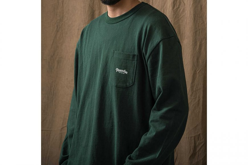 PERSEVERE 21 AW Basic Washed LS Pocket T-Shirt (11)