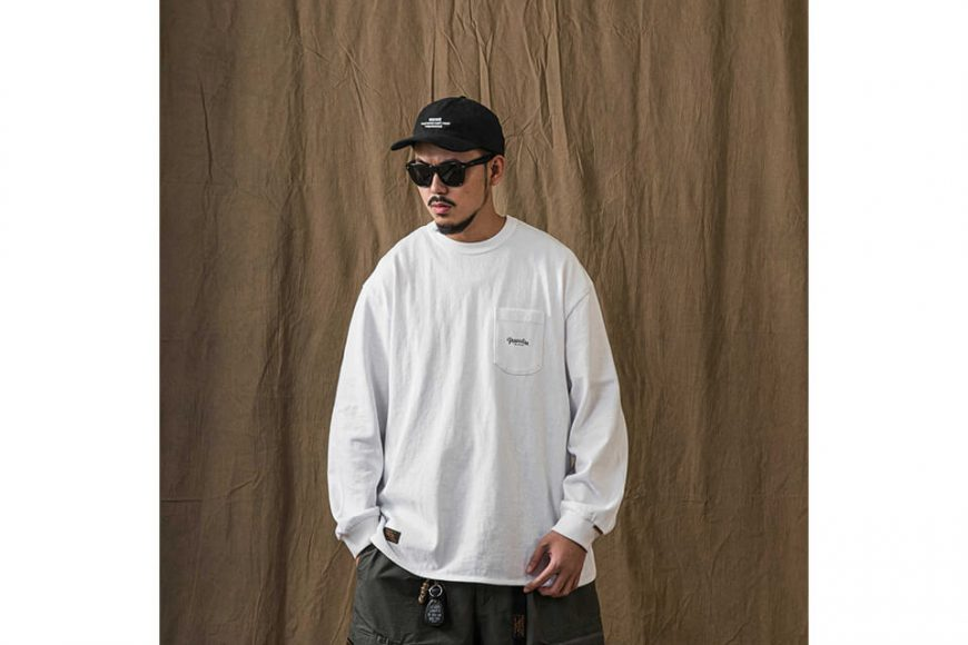 PERSEVERE 21 AW Basic Washed LS Pocket T-Shirt (2)