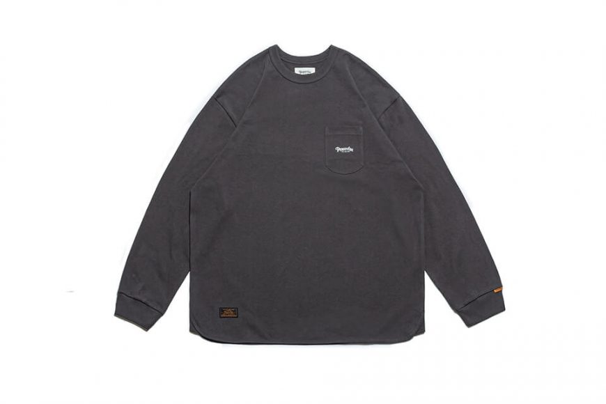 PERSEVERE 21 AW Basic Washed LS Pocket T-Shirt (23)