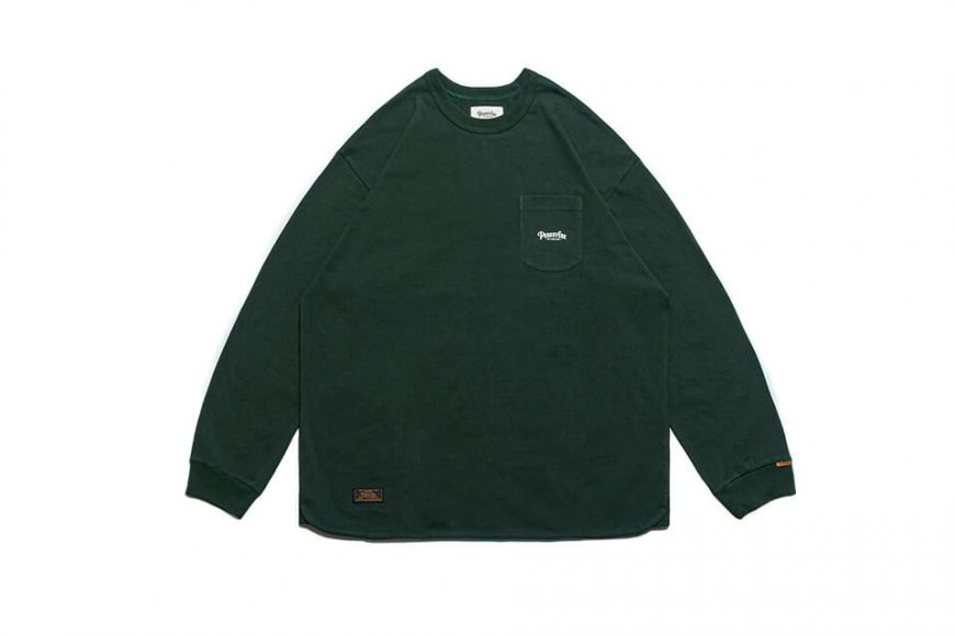 PERSEVERE 21 AW Basic Washed LS Pocket T-Shirt (28)