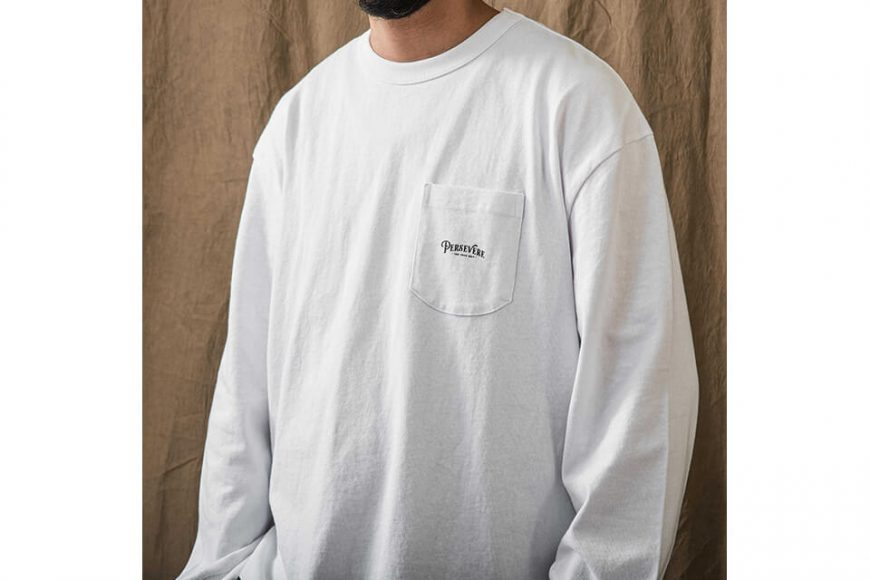 PERSEVERE 21 AW Basic Washed LS Pocket T-Shirt (3)