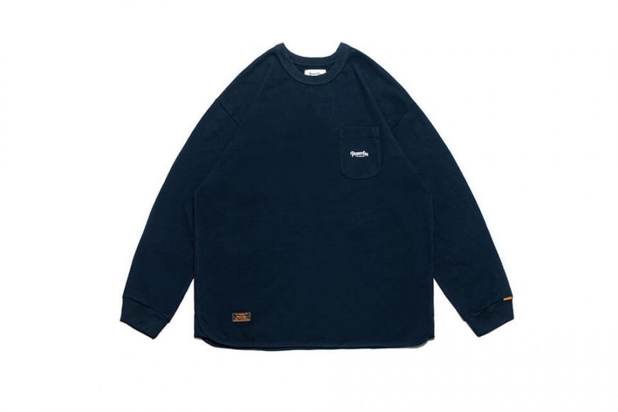 PERSEVERE 21 AW Basic Washed LS Pocket T-Shirt (33)
