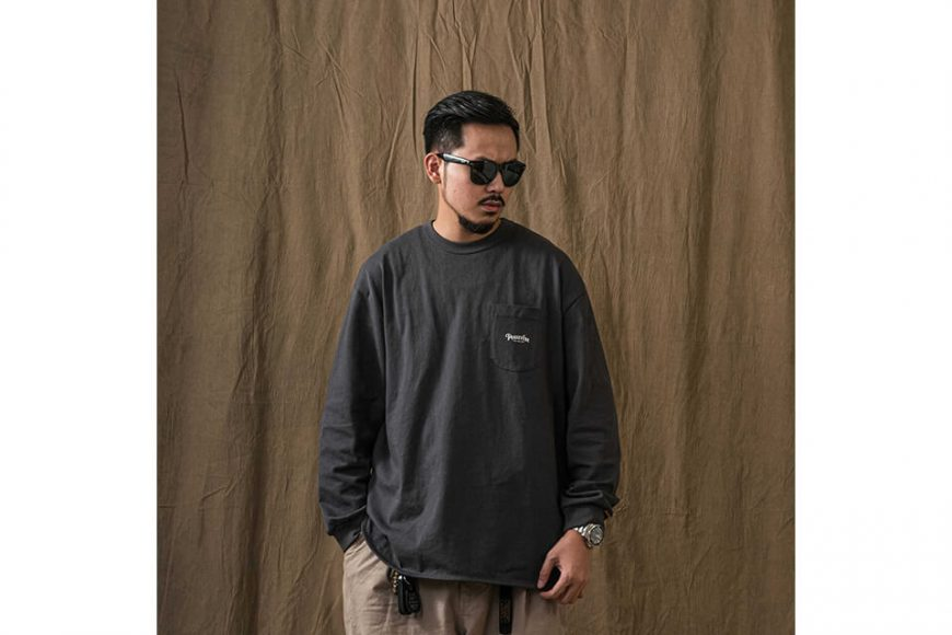 PERSEVERE 21 AW Basic Washed LS Pocket T-Shirt (6)