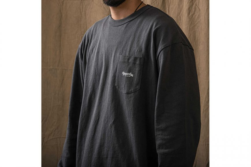 PERSEVERE 21 AW Basic Washed LS Pocket T-Shirt (7)